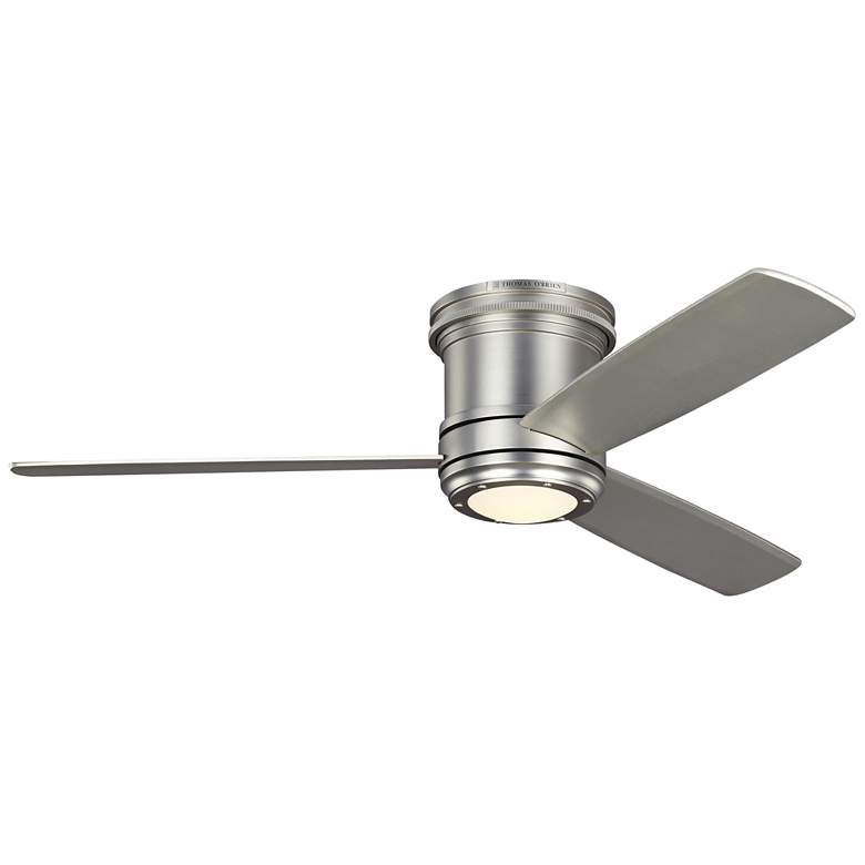 """56"""" Aerotour Satin Nickel and Silver LED Hugger Ceiling Fan"""