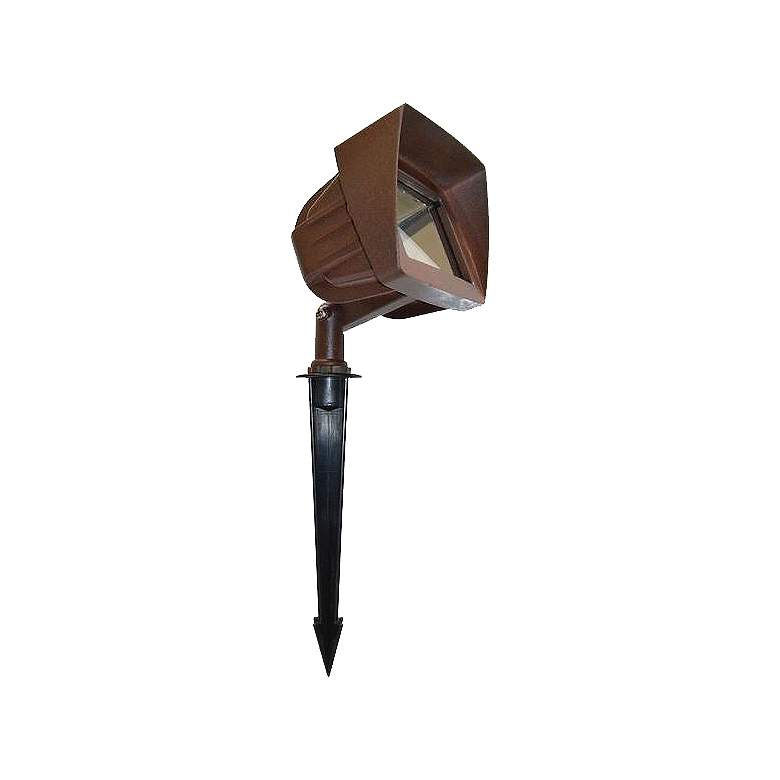 "Chiba 4"" High Bronze Landscape Flood Light"