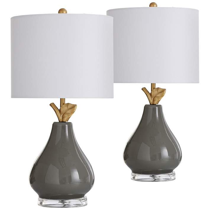 Modern Pear 18 High Accent Table Lamps