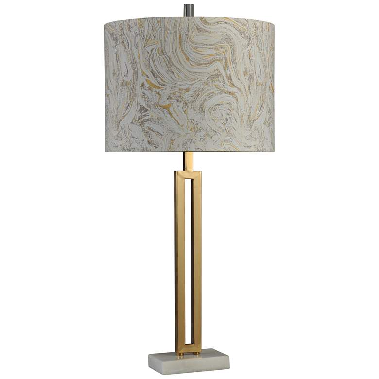 Marble Gold Finish Steel Table Lamp