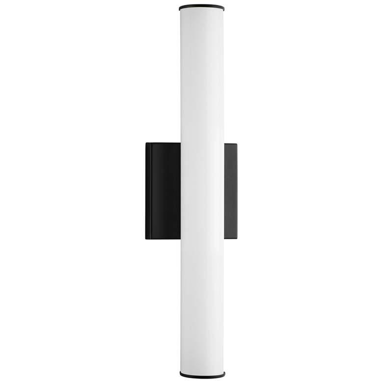 "Maxim Rail LED 18"" High Black Wall Sconce"
