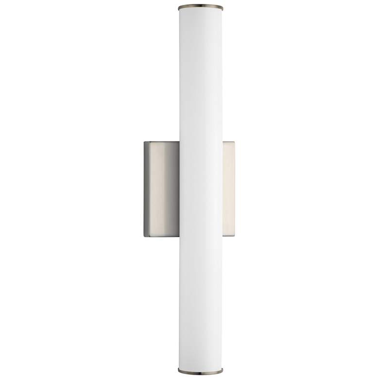 "Maxim Rail LED 18"" High Satin Nickel Wall Sconce"