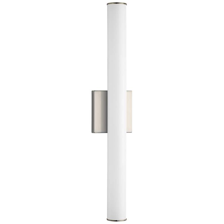 "Maxim Rail LED 24"" High Satin Nickel Wall Sconce"