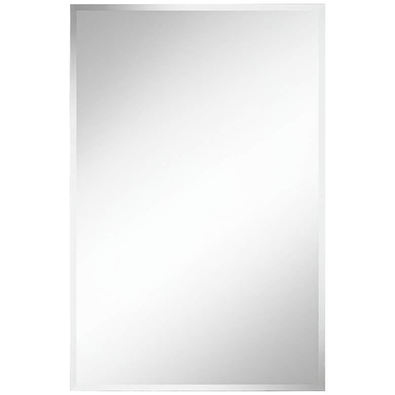 "Brix 24"" x 36"" Frameless Rectangle Vanity Wall Mirror"