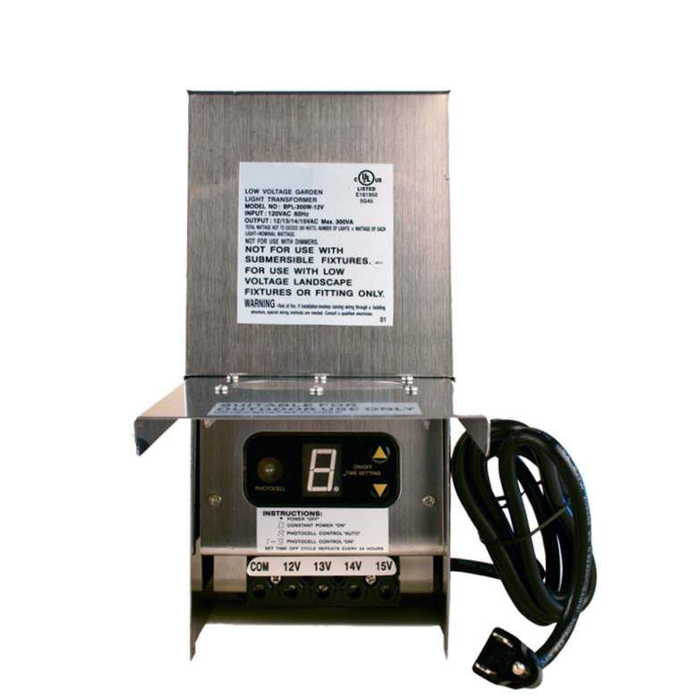 Stainless Steel 300 Watt Transformer with Digital Timer