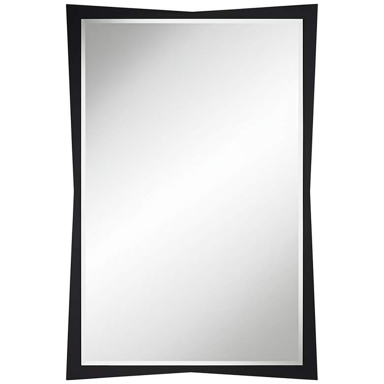 """Liliana 30 3/4"""" x 45"""" Black Geometric Wall Mirror"""