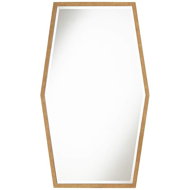 "Ayva Gold 28"" x 47"" Hexagon Wall Mirror"