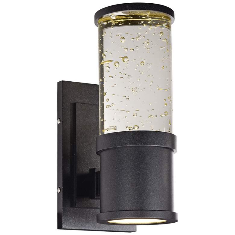 "Maxim Pillar 11"" High Galaxy Black LED Outdoor Wall Light"