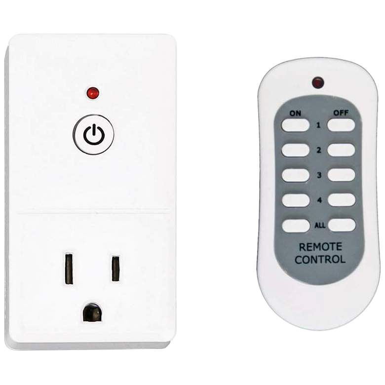Tesler E-Z Control White 1-Plug Wireless Remote Wall Outlet