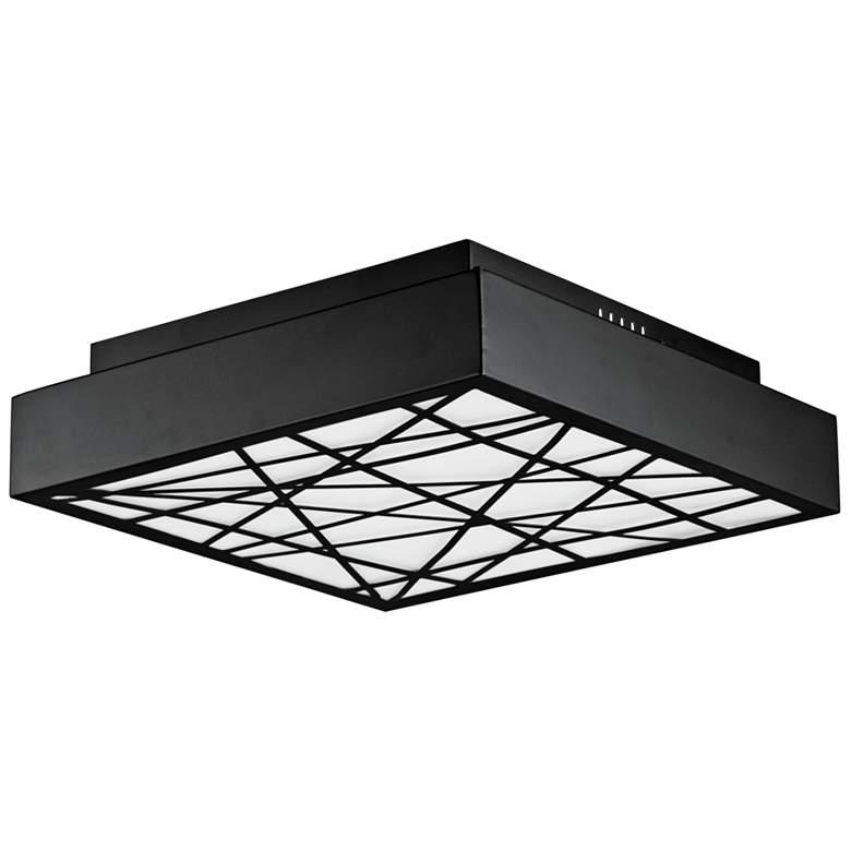 "ET2 Intersect 15 3/4"" Wide Square Black LED Ceiling Light"