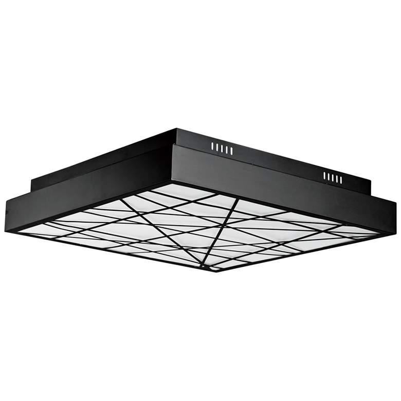 "ET2 Intersect 23 1/2"" Wide Square Black LED Ceiling Light"