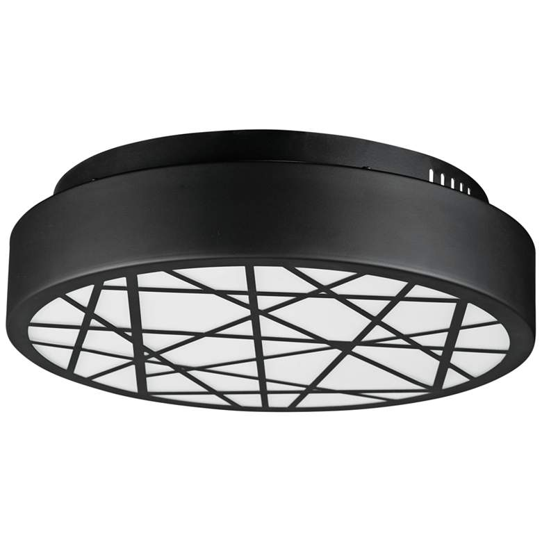"""ET2 Intersect 15 3/4"""" Wide Round Black LED Ceiling Light"""