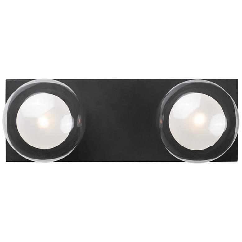 """ET2 Pod 4 3/4"""" High Black 2-Light LED Wall Sconce"""