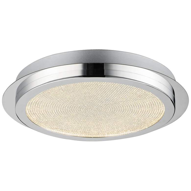 "Sparkler 13 3/4""W Round Polished Chrome LED Ceiling Light"
