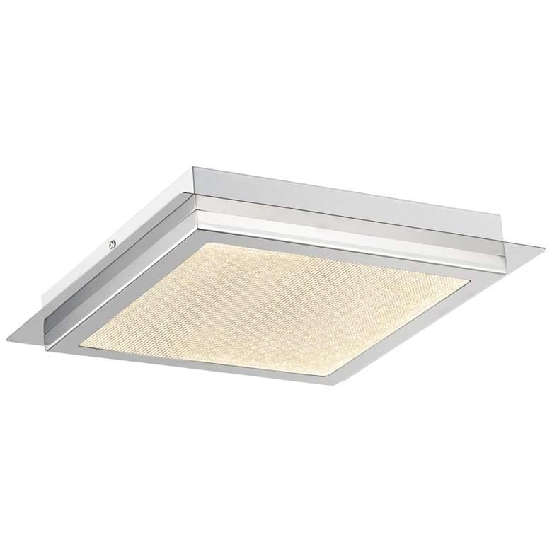 "ET2 Sparkler 13""W Square Polished Chrome LED Ceiling Light"
