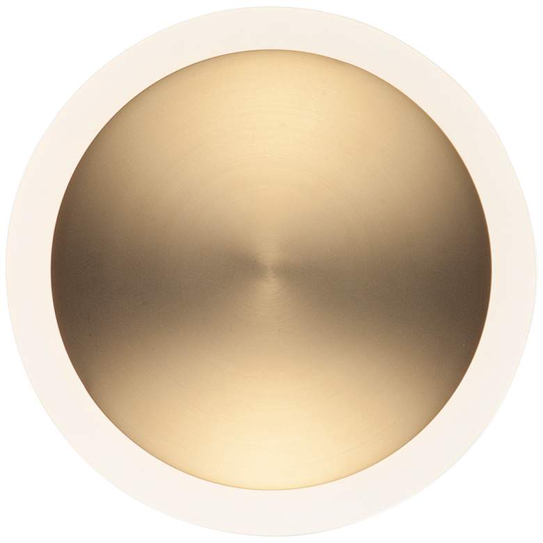 "ET2 Saucer 7"" High Gold LED Wall Sconce"