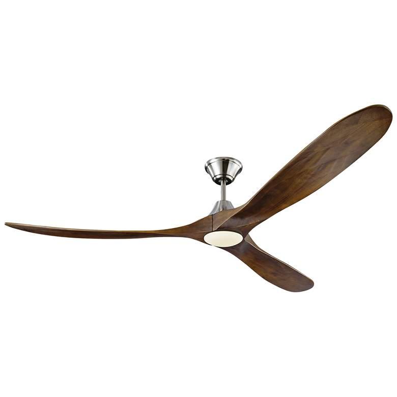 """70"""" Maverick Max Brushed Steel LED Damp Ceiling Fan"""