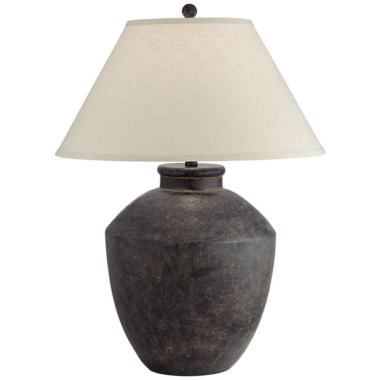 Massa Black Terracotta Jar Table Lamp