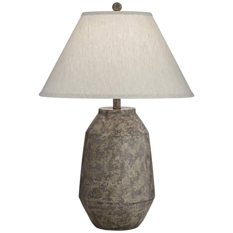 Lagos Dark Terracotta Jar Table Lamp