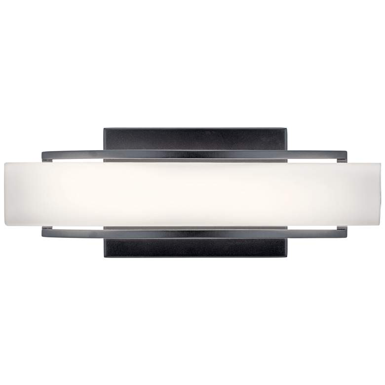 "Elan Rowan 13 1/4"" Wide Matte Black LED Bath Light"