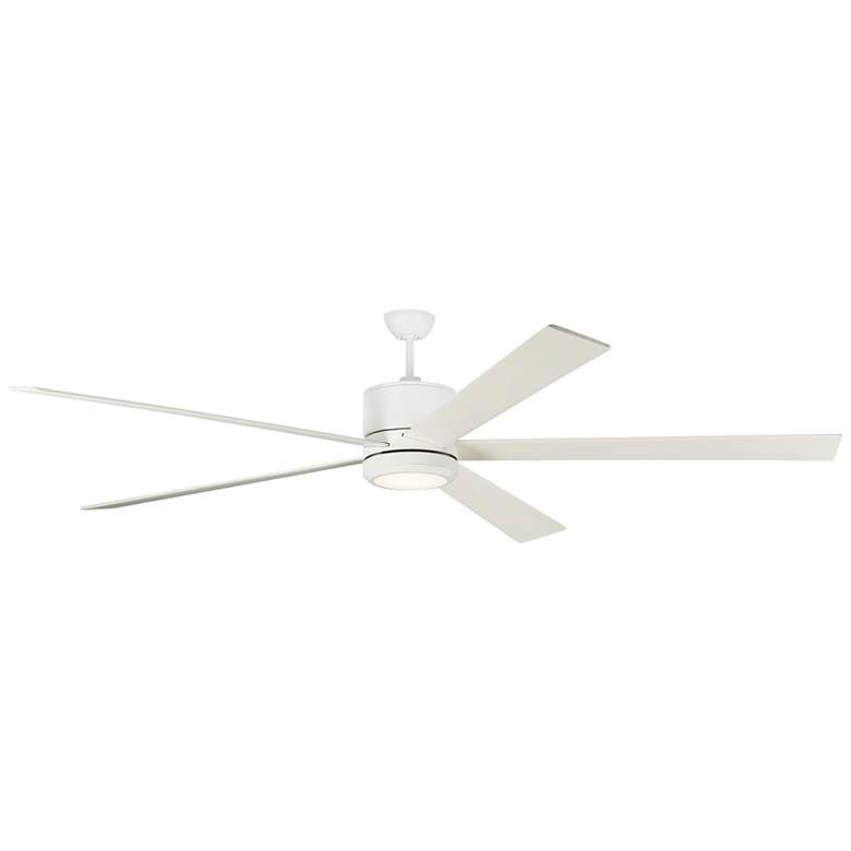 "84"" Monte Carlo Vision 84 Matte White LED Ceiling Fan"