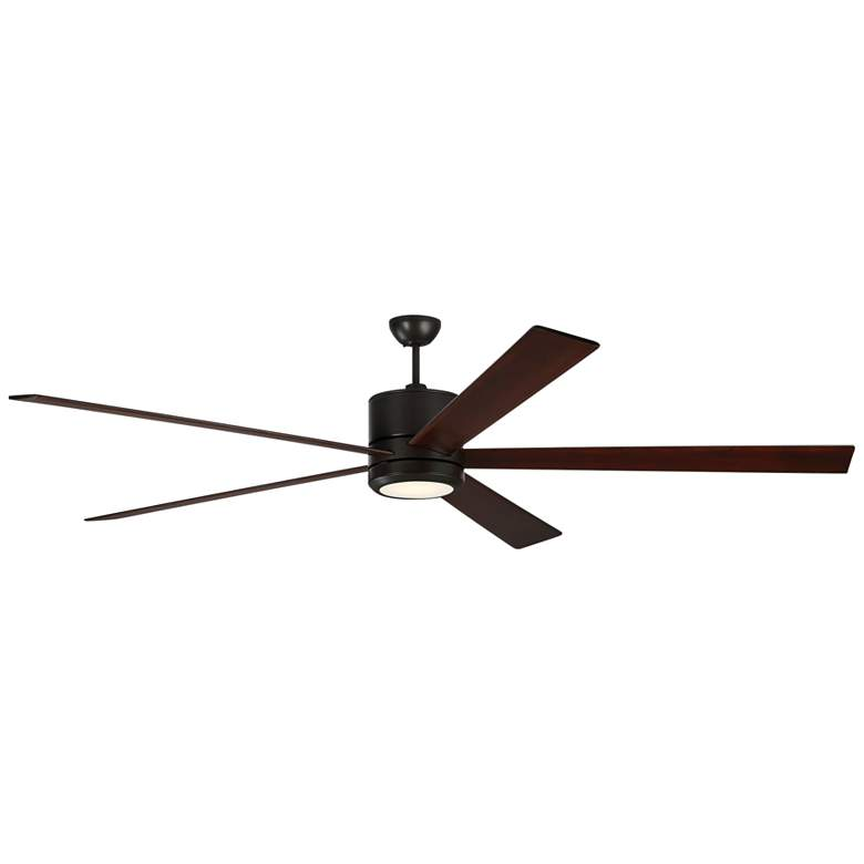 """84"""" Monte Carlo Vision 84 Oil-Rubbed Bronze LED Ceiling Fan"""