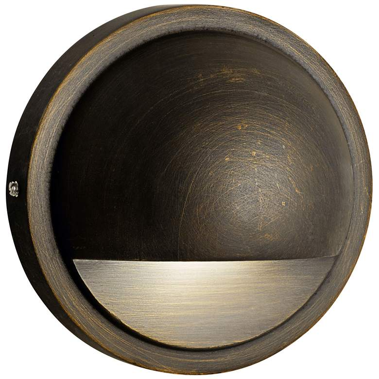 "Kichler Half-Moon 4""W Centennial Brass 2700K LED Deck"