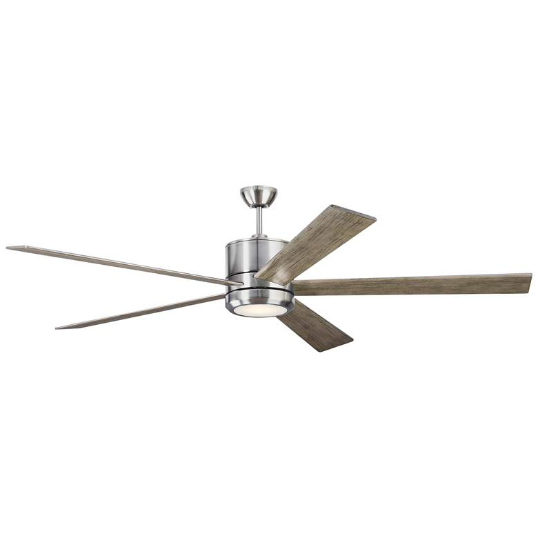 "72"" Monte Carlo Vision 72 Brushed Steel LED Ceiling Fan"