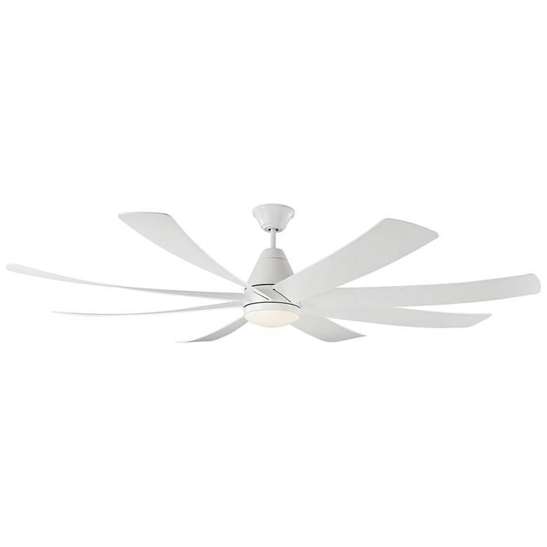 "72"" Monte Carlo Kingston Matte White LED Damp Ceiling Fan"