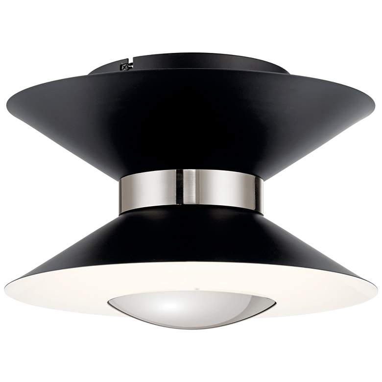 "Elan Kordan 14"" Wide Matte Black LED Ceiling Light"