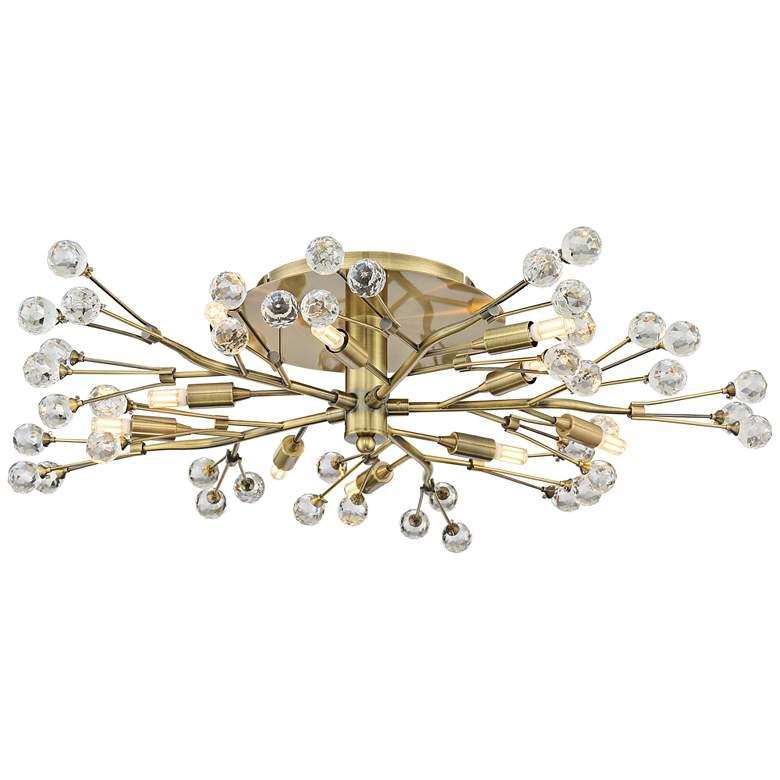 Possini Euro Crystal Berry Brass 10-Light LED Ceiling Light