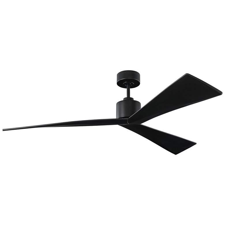 "60"" Monte Carlo Adler Matte Black Damp Rated Ceiling Fan"