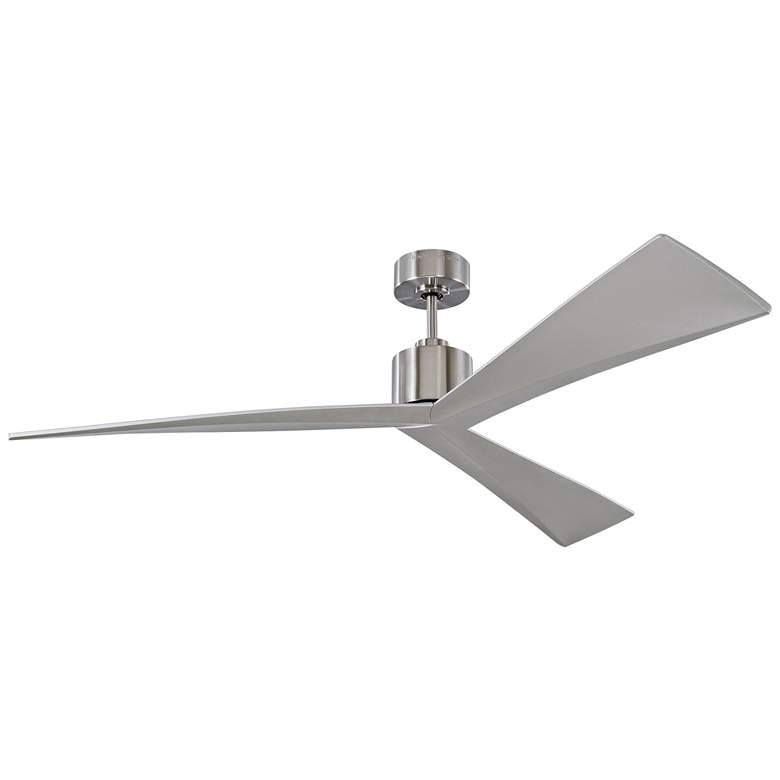 """60"""" Monte Carlo Adler Brushed Steel Ceiling Fan"""