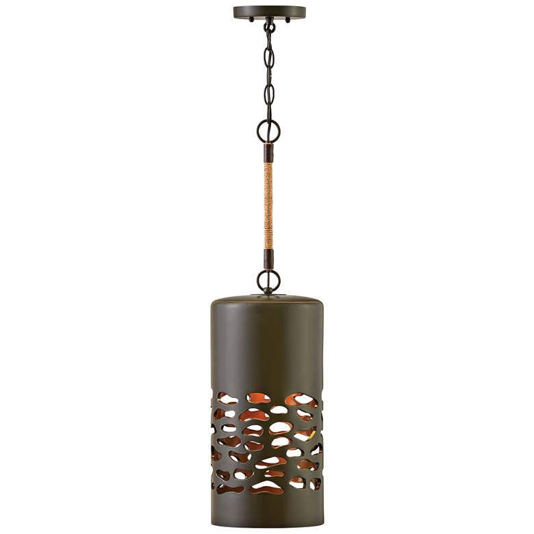 "Calder 7 3/4"" Wide Oil-Rubbed Bronze Ceramic Mini Pendant"