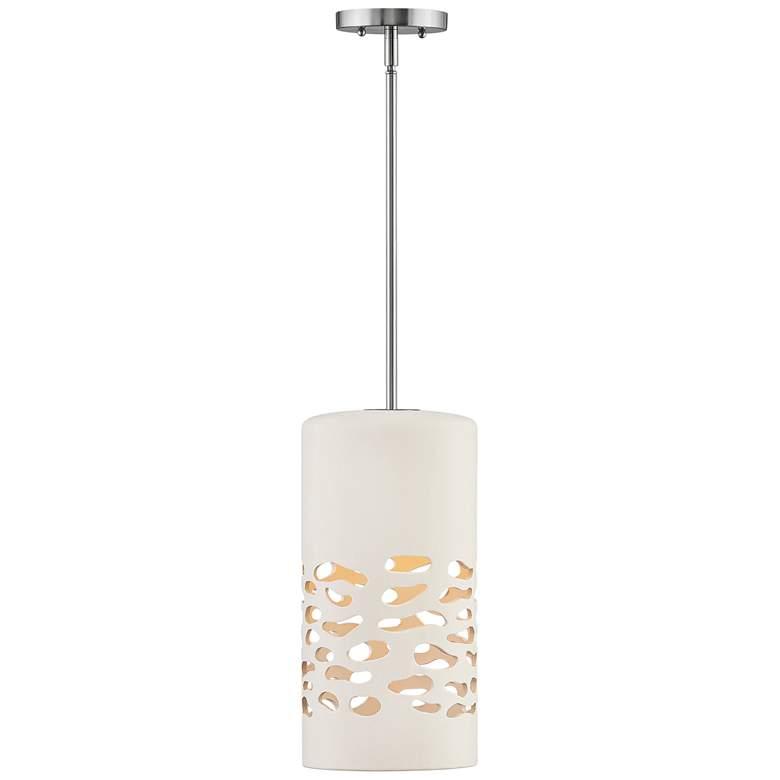 """Hinkley Calder 7 3/4"""" Wide White Ceramic Mini Pendant Light"""