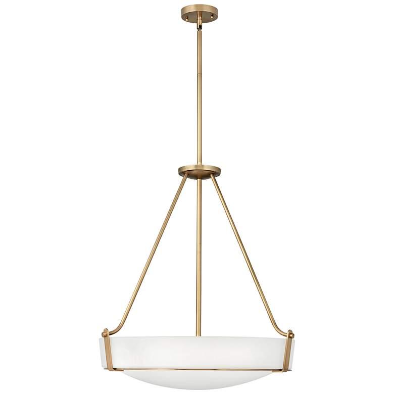 "Hinkley Hathaway 26 3/4""W Heritage Brass Bowl Pendant Light"
