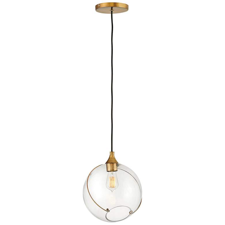 "Hinkley Skye 10 3/4"" Wide Heritage Brass Mini Pendant Light"