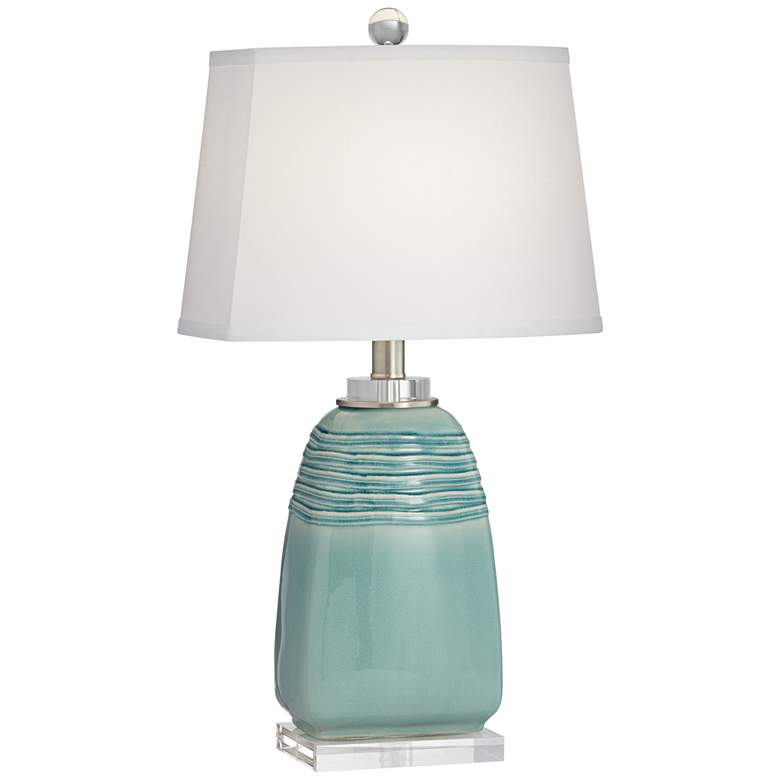 Beaufort Turquoise Wrinkle Ceramic Table Lamp