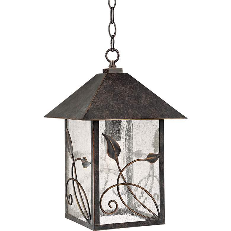 "French Garden 15"" High Bronze Outdoor Hanging Light"