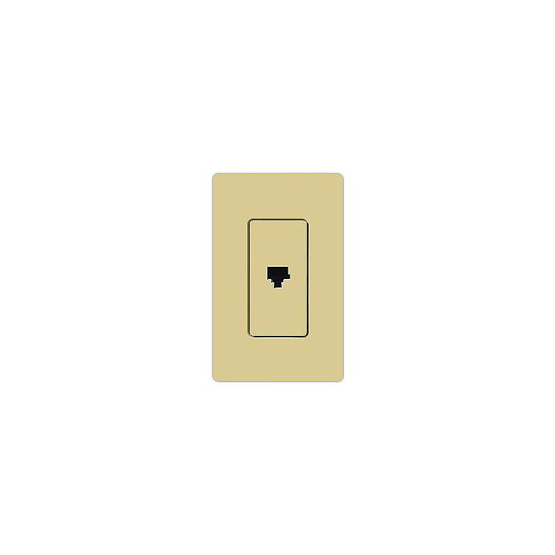 Lutron Claro Ivory Phone Jack Faceplate