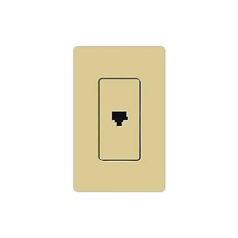 Lutron Claro Ivory Phone Jack Faceplate