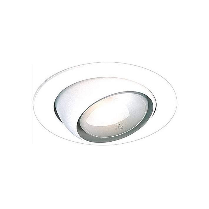 4 White Gimbal Recessed Light Eyeball