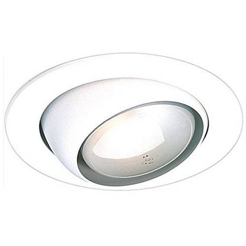 "4"" White Gimbal Recessed Light Eyeball Trim"