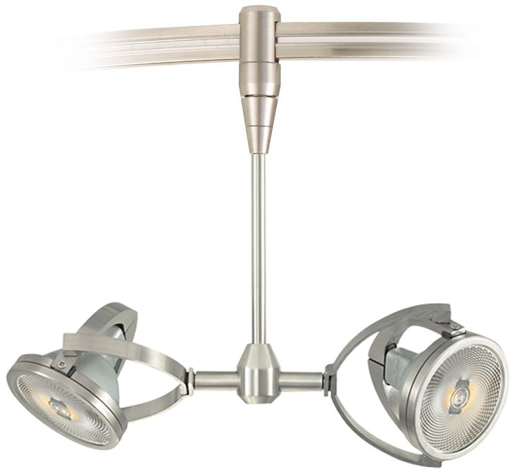 Elton Satin Nickel Low-Voltage Monorail Track Head  sc 1 st  L&s Plus & Low Voltage 12V Track Lighting | Lamps Plus