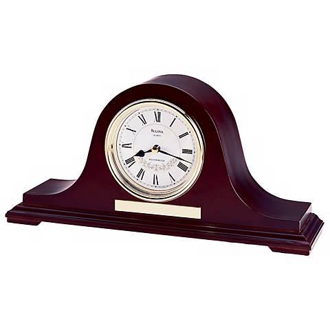 "Bulova Anette II Chime 14 1/2"" Wide Mantel Clock"