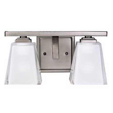 "Antique Metro Kool Pewter 12 1/2"" Wide Bath Light Fixture"