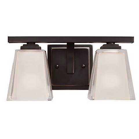 Metro kool bronze 12 12 wide bath light fixture 71895 lamps plus metro kool bronze 12 12 wide bath light fixture aloadofball Gallery