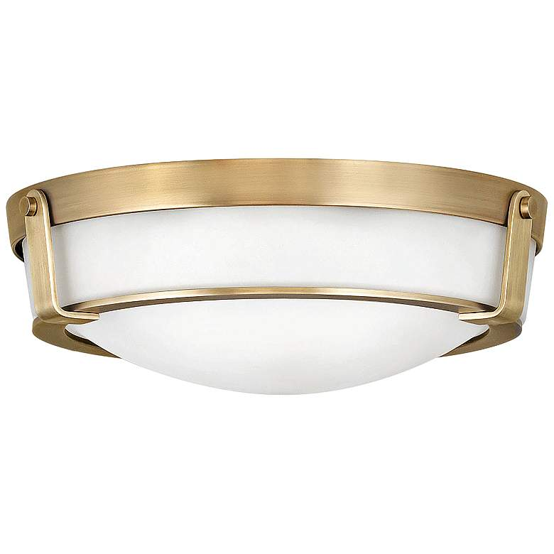 "Hinkley Hathaway 16"" Wide Heritage Brass Ceiling Light"