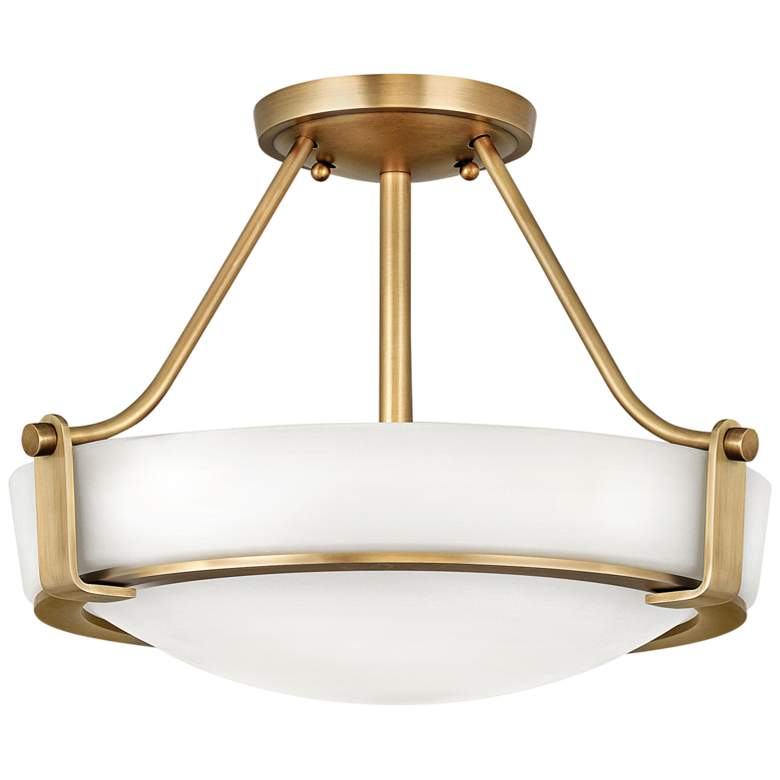 """Hinkley Hathaway 16"""" Wide Heritage Brass LED Ceiling Light"""