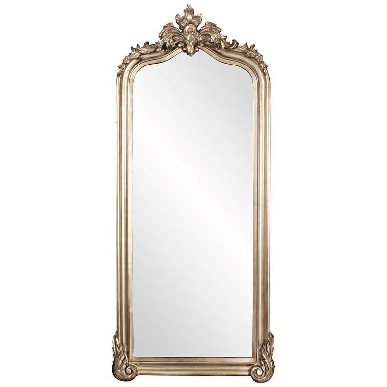 "Tudor Champagne Silver 38"" x 85"" Oversized Floor Mirror"